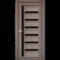 Дверь VALENTINO DeLuxe  VLD-01. Со стеклом сатин (дуб грей,дуб беленый,орех,венге,дуб марсала). KORFAD(КОРФАД)