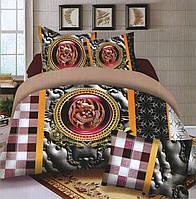Комплект постельного белья (евро-размер) № 724