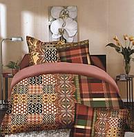 Комплект постельного белья (евро-размер) № 738
