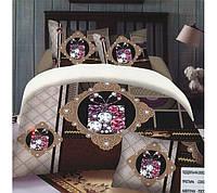 Комплект постельного белья 3d (евро-размер) № 736