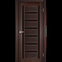Дверь VALENTINO DeLuxe  VLD-02. Со стеклом сатин (орех,дуб грей,дуб беленый,венге,дуб марсала). KORFAD(КОРФАД)
