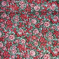 Ткань с мелкими розовыми и красными бутонами, фото 1