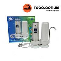 Двойной кухонный настольный фильтр для очистки воды Aquafilter FHCTF2