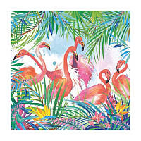 "Декупажная салфетка ""Фламинго"", 33*33 см, 17,5 г/м2, ti-flair, 340111"