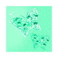 "Декупажная салфетка ""Две бабочки"", мятные, 33*33 см, 17,5 г/м2, ti-flair, 361337"