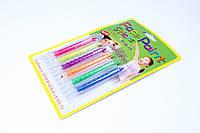 Краски для грима 6 цветов,неоновые,выдвижной карандаш,№FP-6,аквагрим,набор для творчества, фото 1