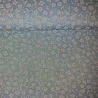 Ткань с белыми цветочками на нежном голубом фоне, фото 1