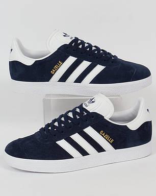 434cdef0fb6d Мужские кроссовки Adidas Gazelle OG синие топ реплика