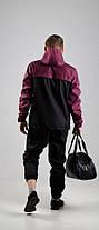 Мужской анорак Nike President черный/бордовый топ реплика, фото 2