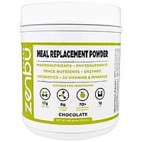 Madre Labs, Шейк Zenbu, порошок-заменитель пищи с пребиотиками, пробиотиками и растительного белка шоколадный