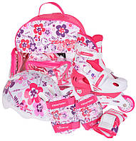 Роликовые коньки Ролики детские раздвижные Tempish FLOWER Baby skate комплект 34-37 Чехия