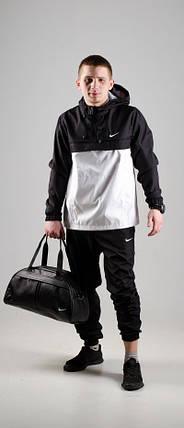 Мужской анорак Nike President черный/белый топ реплика, фото 2