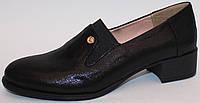 Женские туфли кожаные на каблуке, обувь женская от производителя модель ЕК243