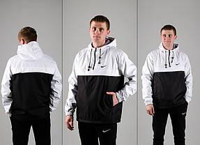 Мужской анорак Nike President белый/черный топ реплика, фото 3