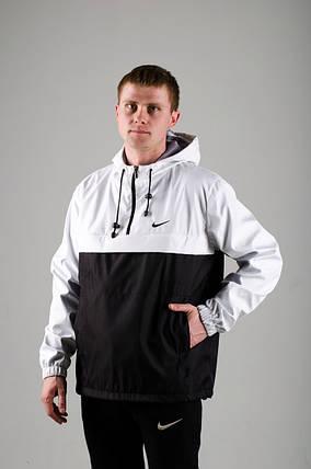 Мужской анорак Nike President белый/черный топ реплика, фото 2