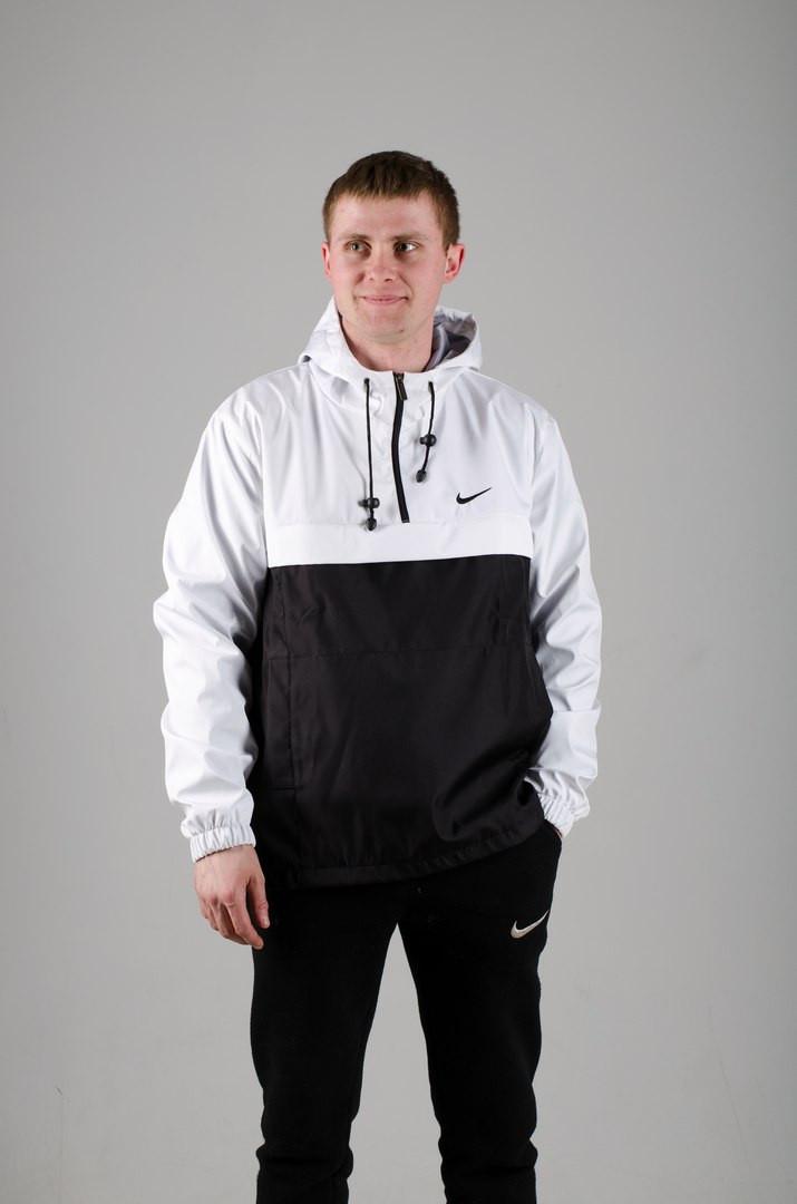 Мужской анорак Nike President белый/черный топ реплика