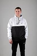 Мужской анорак Nike President белый/черный
