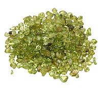 Камни для декора Хризолит (2-5 мм) 100 грамм
