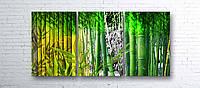 "Модульная картина на полотне ""Бамбук"""