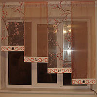 Комплект  штор тюль Сакура 2.0, 1.6, 4, Нет, Органза, Нет, Оранжевый, 0.55, 2, 1.5