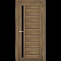 Дверь VENECIA DeLuxe  VND-02. Исполнение: с черным стеклом. KORFAD
