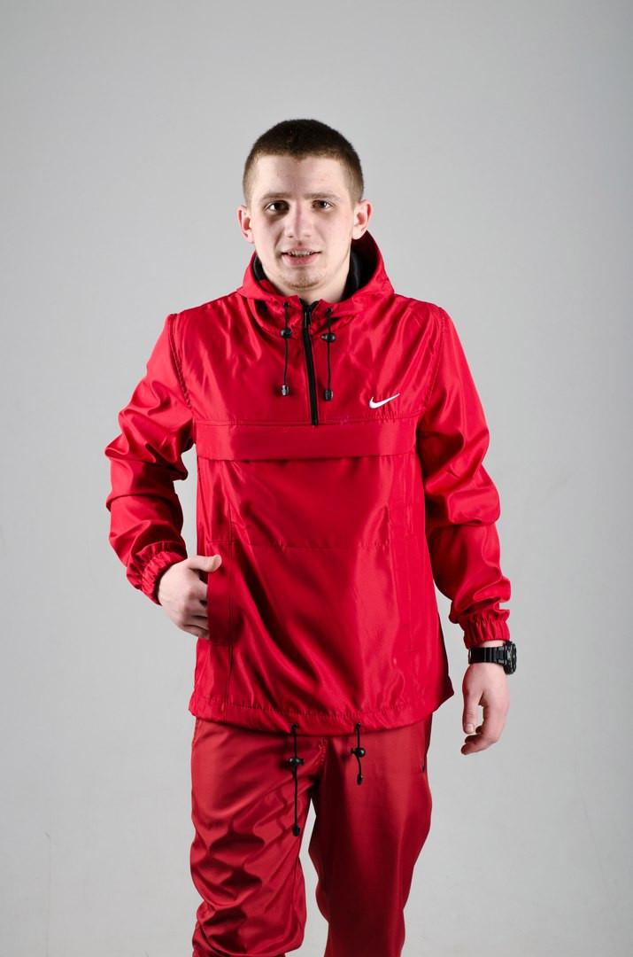 Мужской анорак Nike President красный топ реплика