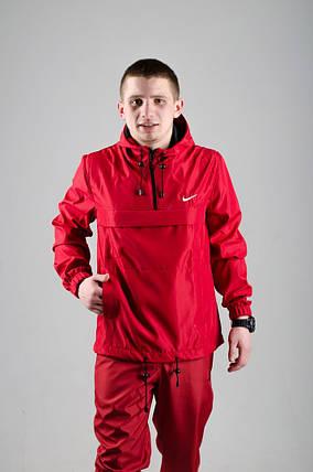 Мужской анорак Nike President красный топ реплика, фото 2