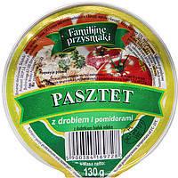 Паштет Familijne przysmaki z drobiem i pomidorami 130g (12шт/ящ)