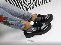Брендовые туфли-броги из натуральной замши и кожи, реплика Chanel