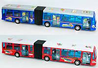 Автобус 855 (24/2) со сдвоенной гармошкой, 2 цвета, инерция, в слюде