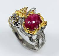 Кольцо. Природный рубин. Серебро 925