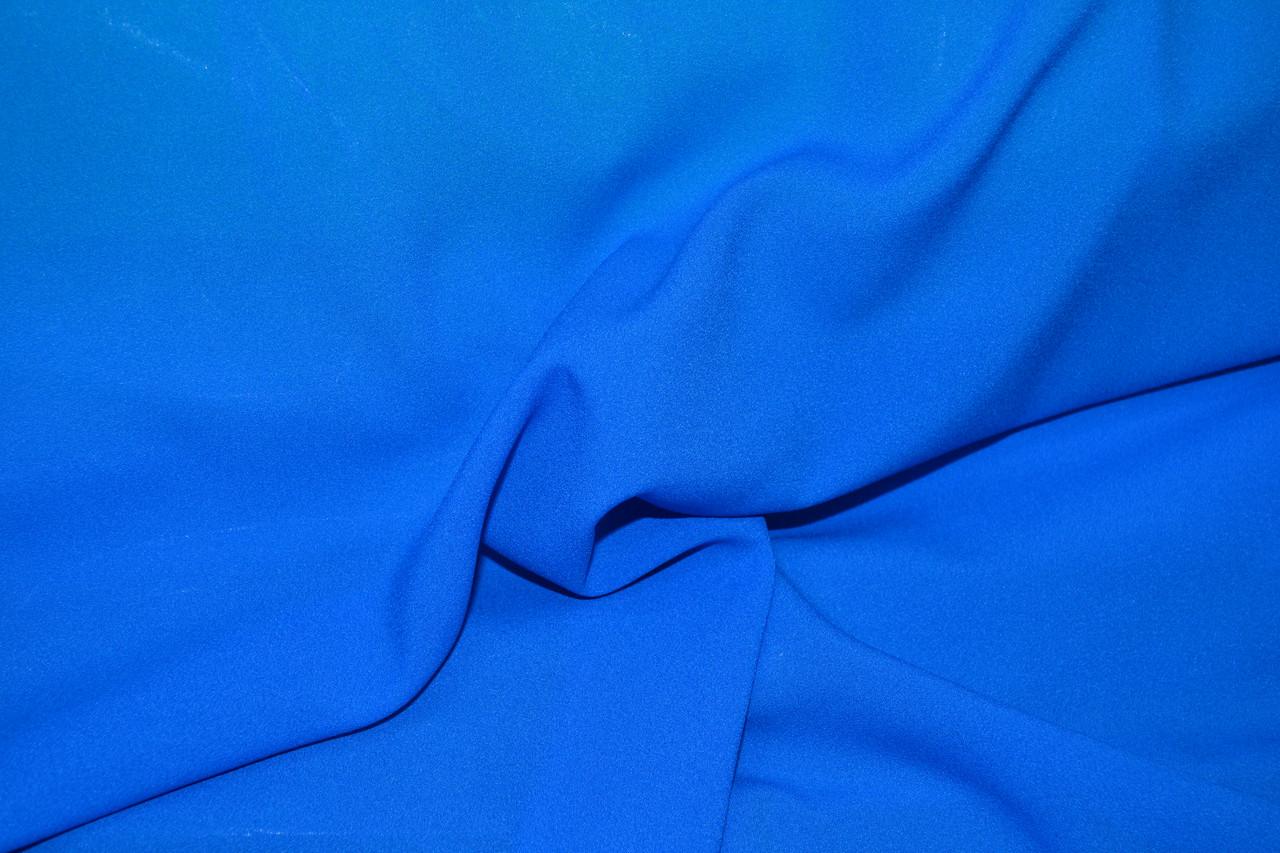 Креп шифон элетро синий