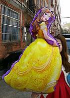 Принцесса Белль. Большой фигурный воздушный шарик из фольги 90см.