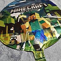 """""""Майнкрафт"""" Шарик воздушный фольгированный диаметр 45 см."""