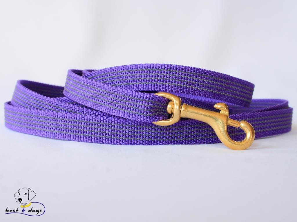 Поводок прорезиненный Фиолетовый 15мм