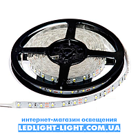 """Світлодіодна стрічка """"LC"""" 12 V 60 діодів/метр 4.8 W білий холодний, без силікону"""