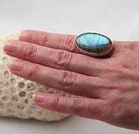 Серебряное кольцо с лабрадором 17,75 р