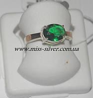 Кольцо серебро с золотом Хлоя