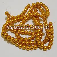 Жемчуг керамический, 6 мм, золотисто-желтый (20 шт)