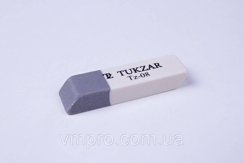 Ластики серо-белые Tukzar №TZ-08, стирательная резинка (карандаш/ручка)