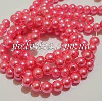 Жемчуг керамический, 6 мм, розовый (20 шт)