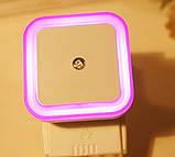 Нічник світлодіодний LED із сенсором освітлення 220V 0.5 W EU РОЖЕВЕ СВІТІННЯ SKU0000666, фото 4