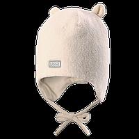 Шапка флисовая детская LASSIE 718696 белая, Размер XS