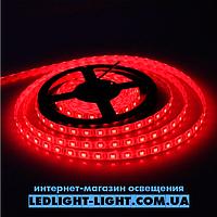 """Светодиодная лента """"LC"""" 12V 60 диодов/метр 4.8W красный, без силикона"""