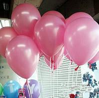 Воздушный шар розового цвета пастель 26 см./ в уп. 10 шт.