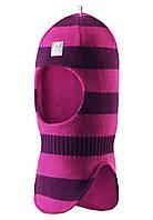 Шапка-шлем детская Reima 518315 розово-бордовая, Размер 52