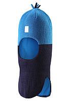 Шапка-шлем детская Reima 518364 тёмно-синяя, Размер 52