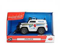 Машинка Полиция со щитом, светом и звуком 15 см