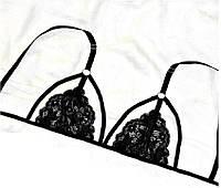 Бюстгальтер лиф кружевной с ремешками