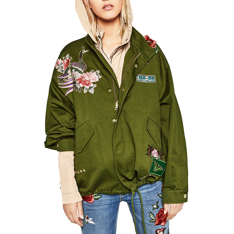 107693f30d0 Куртка парка в стиле Zara с вышивкой - V-grupe - Интернет-магазин в